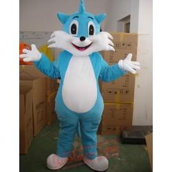 Blue Cat Mascot Costume