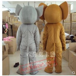 Tom Cat And Jerry Mouse Mascot Costume