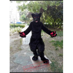 Black Wolf Fursuit Mascot Costume Husky Dog Fox