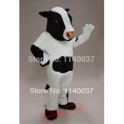 Black & White Cow Mascot Costume