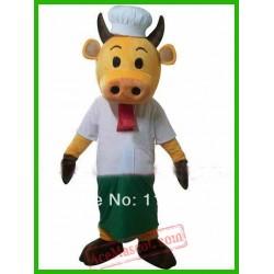 Calf Bull Cow Chef Mascot Costume