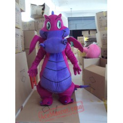 Dragon Mascot Purple Dinosaurs Mascot Costume