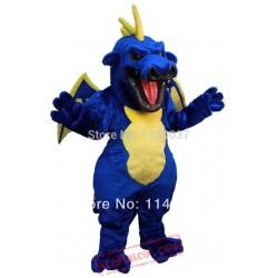 Blue Pterosaur Dinosaur Dragon Mascot Costume