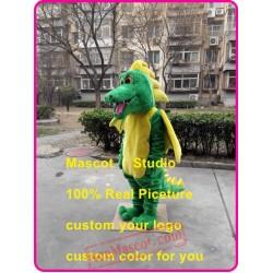 Green Dinosaur Mascot Costume