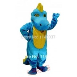 Light Blue Dino Mascot Dinosaur Costume