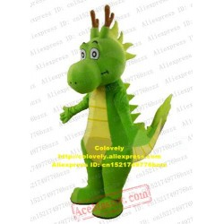 Lively Green Dinosaur Dino Dragon Mascot Costume