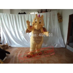 Khaki Dragon Mascot Costume