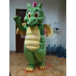 Dragon Mascot Costume Green Red Pink Blue Dinosaur Costumes