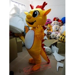 Yellow Dragon Dinosaur Mascot Costumes