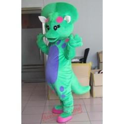 Funny Baby Bop Dinosaur Mascot Costume Cartoon Character