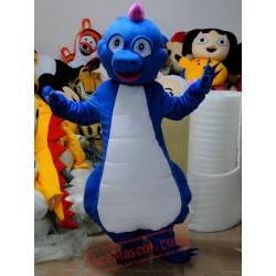 Blue Dinosaur Mascot Costume