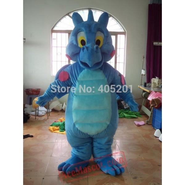 Character Blue Dinosaur Mascot Costume