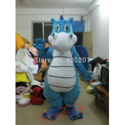 Blue Dragon Mascot Costume