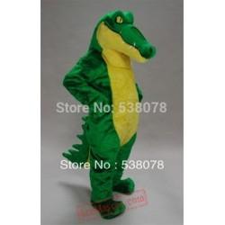 Good Quality Adult Green Crocodile Mascot Costume