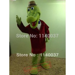 Crocodile Mascot Costume Cartoon Character