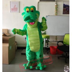 Dinosaur Crocodile Cartoon Character Mascot Costume