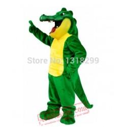 Crunch Gator Aligator Crocodile Mascot Costume