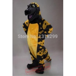 Black And Yellow Gila Crocodile Mascot Costume