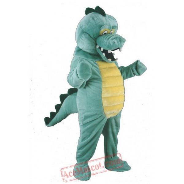 Crocodile Mascot Cartoon Character Costume
