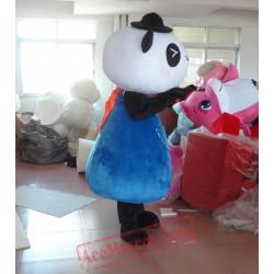 Blue Panda Mascot Costume