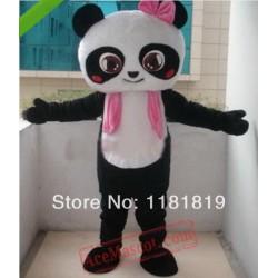 Girl Panda Mascot Costume