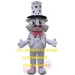 Magic Cat Mascot Costume White Cat