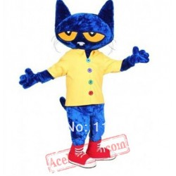 Blue Cat Mascot Costume