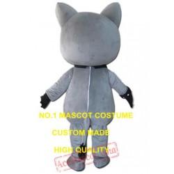 Grey Cat Mascot Costume