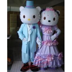 Helmet Couple Series Kitty Cat Mascot Costume
