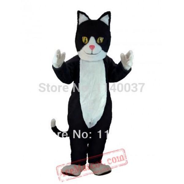 Black & White Cat Mascot Costume