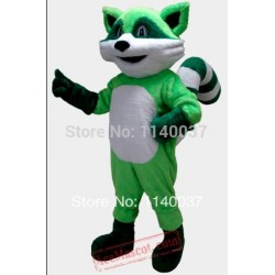 Green Cat Mascot Costume