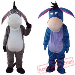 Adult Eeyore Donkey Mascot Costume High Quality