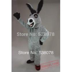 Grey Donkey Mascot Costume