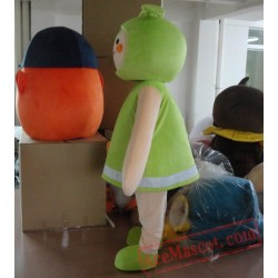Green Seed Bud Sprout Burgeon Fenfen Plant Mascot Costume