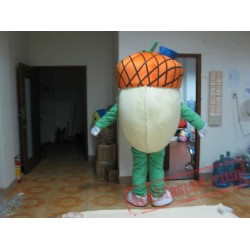 Green Turnip Green Radish Green Carrot Mascot Costume