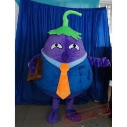 Purple Eggplant Mascot Costume Vegetable