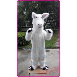 White Horse Mascot Costume
