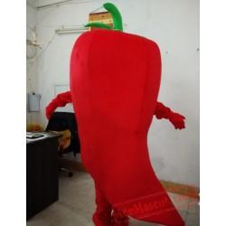 Red Chili Mascot Costume