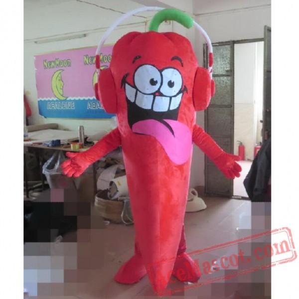 Chili Mascot Costume Vegetables Cartoon