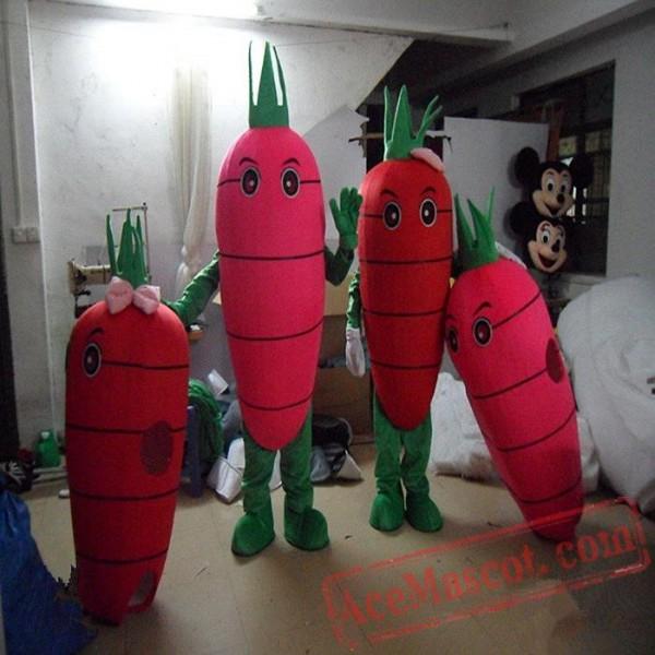 Carrot Mascot Costume Vegetables