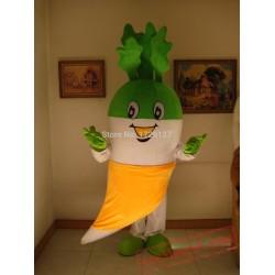 White Radish Vegetable Mascot Costume