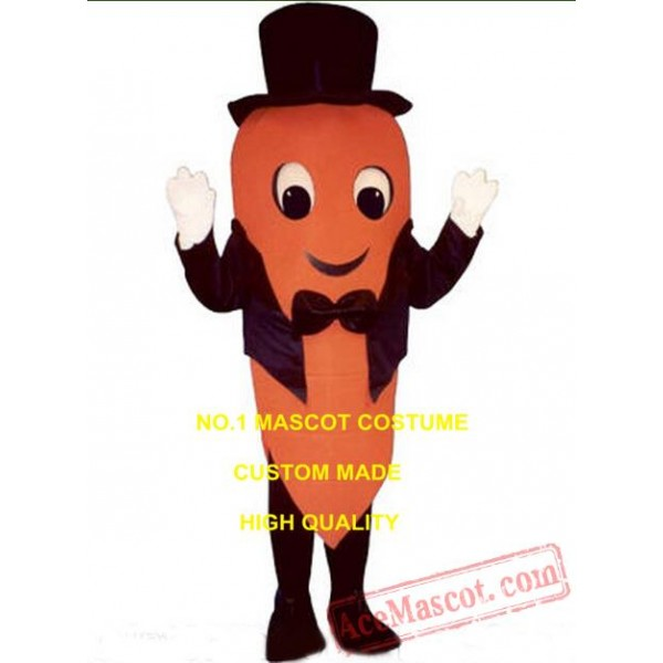 Carrot Mascot Costume W/Tailcoat Hat