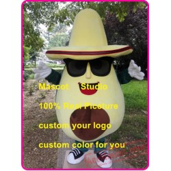 Avocado Mascot Costume Fruit Mascot Custom