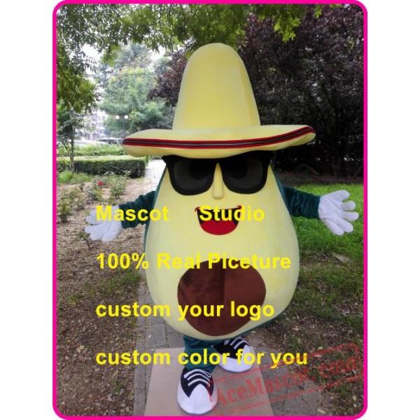 Avocado Mascot Costume Fruit Mascot Custom