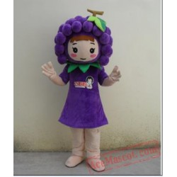 Grape Girl Mascot Costume Fruit Cartoon Character Costume