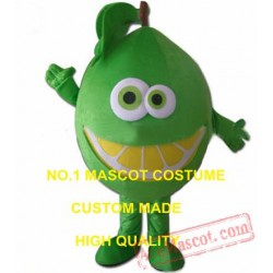 Lime Mascot Costume Green Orange