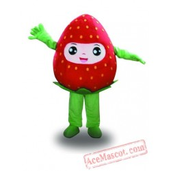 Professional Red Strawberry Fruit Mascot Costume