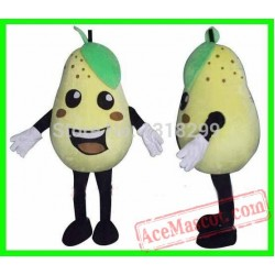Pear Mascot Costume Fruit Mascot