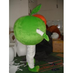 Adult Green Apple Fruit Mascot Costume