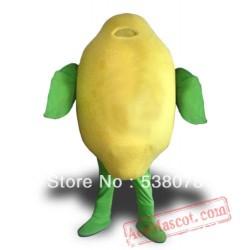 Lemon Fruit Mascot Costume Lemon Cartoon Mascot Outfit